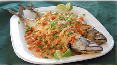 Caribbean-Style Mackerel Baked in Spicy Coconut Sauce