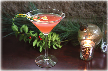 Blood Orange and Thyme Martini