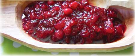 Bourbon Maple Cranberry sauce