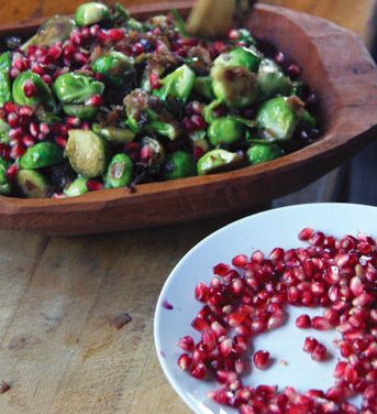 Brussels Sprouts with Pancetta & Pomegranate