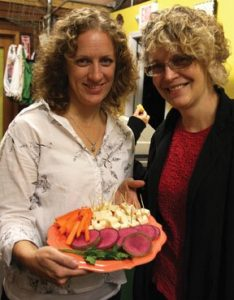 Pam Denholm, South Shore Organics, and Laurie Hepworth, edible South Shore & South Coast.