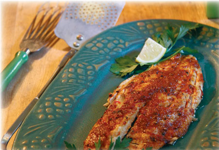 Broiled Bluefish With Sweet-Pepper Butter