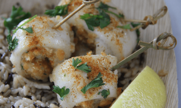 Stuffed Flatfish Rollups