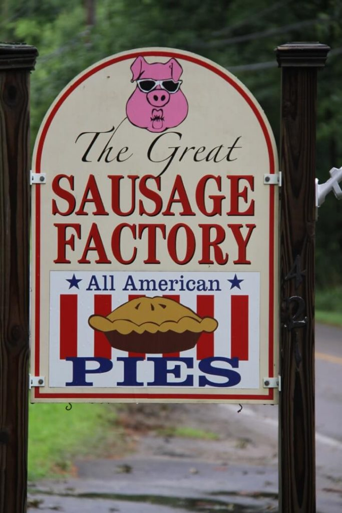 Great Sausage Factory sign